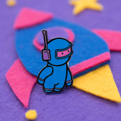 Spaceman Alan Hard Enamel Pin (Begin Industries x Ken Ives)