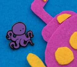 Octopus Tina Hard Enamel Pin (Begin Industries x Ken Ives)