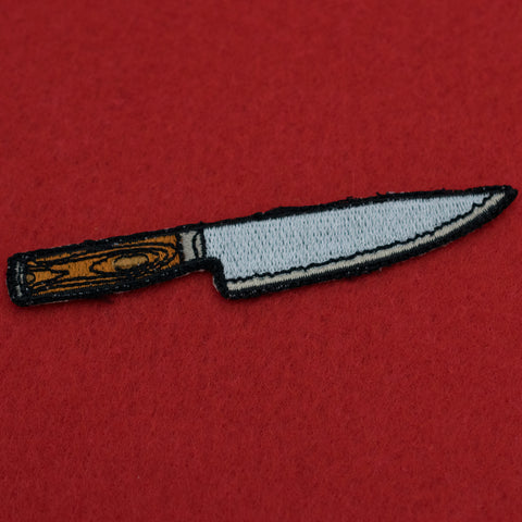 ... Chefs Knife Embroidered Iron-on Patch ...