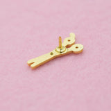 White Scissors Hard Enamel Lapel Pin