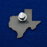 Texas Flag in Shape of State with Armadillo wearing Hat Hard Enamel Lapel Pin