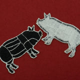 Pig Butcher Cuts Diagram Embroidered Iron-on Patch