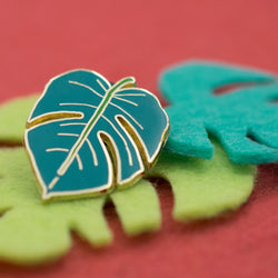 Tropical Monstera Leaf Hard Enamel Lapel Pin