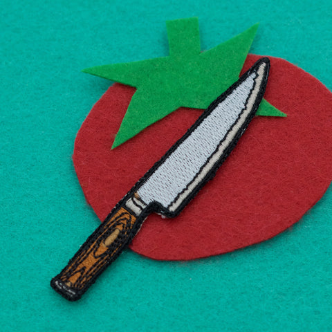 Chefs Knife Embroidered Iron-on Patch