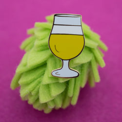 Craft Beer Tulip Glass Hard Enamel Lapel Pin