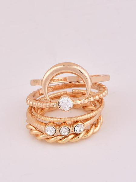 Moon Set rings