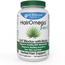 DrFormulas™ Hairomega 3-in-1 DHT Blocker with Biotin for Hair Loss | Hair, Skin and Nail Supplement