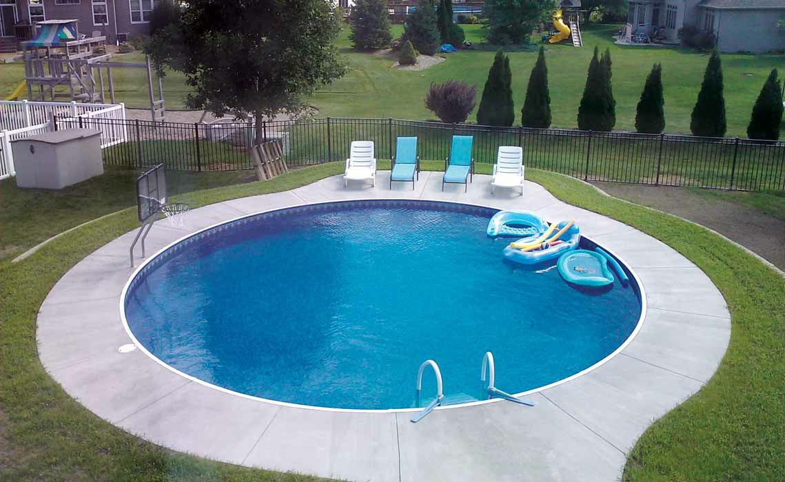 This is circular Shape pool.