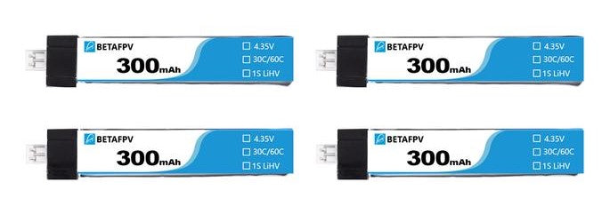 BETA 300mah 1s 4 Pack