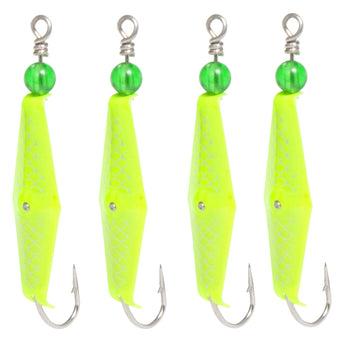Clarkspoon #0 Chartreuse 4 Pack - Factory Seconds - Clarkspoon Fishing Lures
