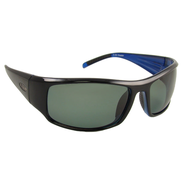 Sea Striker Thresher Sunglasses - 0272 - Black Blue Frame / Grey Lens - Clarkspoon Fishing Lures