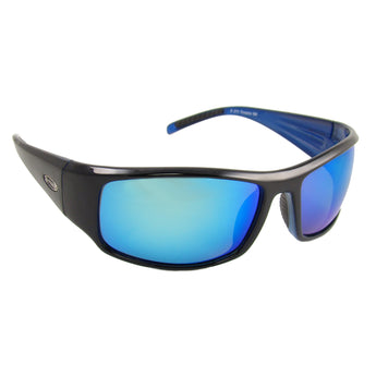 Sea Striker Thresher Sunglasses - 0273 - Black Blue Frame / Blue Mirror Lens