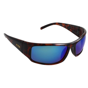 Sea Striker Thresher Sunglasses - 0282 - Tortoise Frame / Blue Mirror Lens