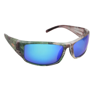 Sea Striker Thresher Sunglasses - 0296 - TrueTimber Camo Frame / Blue Mirror Lens