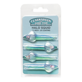 "Halo Squid CSFS25-GC Blue & Green 2.5"" - 4 Pack - Clarkspoon Fishing Lures"
