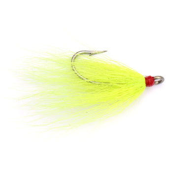 Dressed Hook 2/0 Chartreuse Bucktail - 2pk - Clarkspoon Fishing Lures