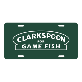 CLP-GRN - Clarkspoon License Plate - Green - Clarkspoon Fishing Lures