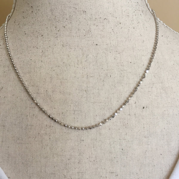 """925 STERLING SILVER INITIAL LETTER Q PENDANT 24/""""MOON CUT CHAIN 11g R215"""