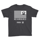 Resurgence Kettlebell Flag Youth Short Sleeve T-Shirt