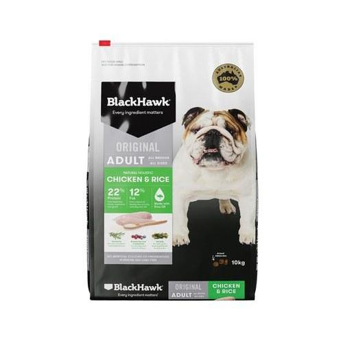 BlackHawk Chicken and Rice 10kg-Dog Food-Southern Sport Horses