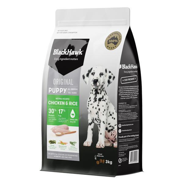 BlackHawk Puppy Chicken and Rice 3kg-Dog Food-Southern Sport Horses