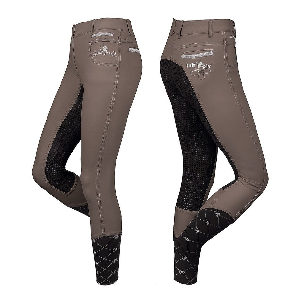 Fair Play Jilliane Breeches Beige/Black Sz40-breeches-Southern Sport Horses