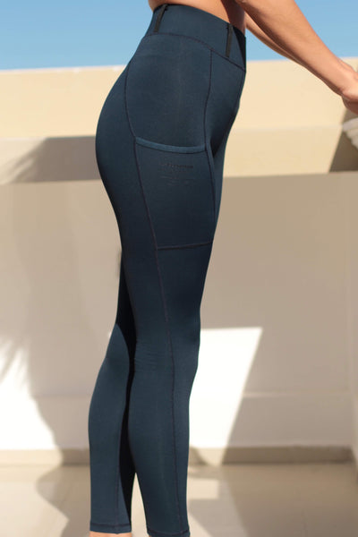 HLH Equestrian Apparel Cancun Riding Tights in Navy-HLH Equestrian Apparel-Southern Sport Horses