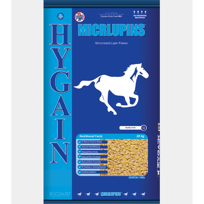 Hygain MicrLupins 20kg-feed-Southern Sport Horses