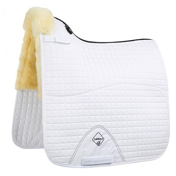 sheepskin dressage saddle blanket
