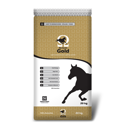 Omega No Grain Gold 20kg-feed-Southern Sport Horses