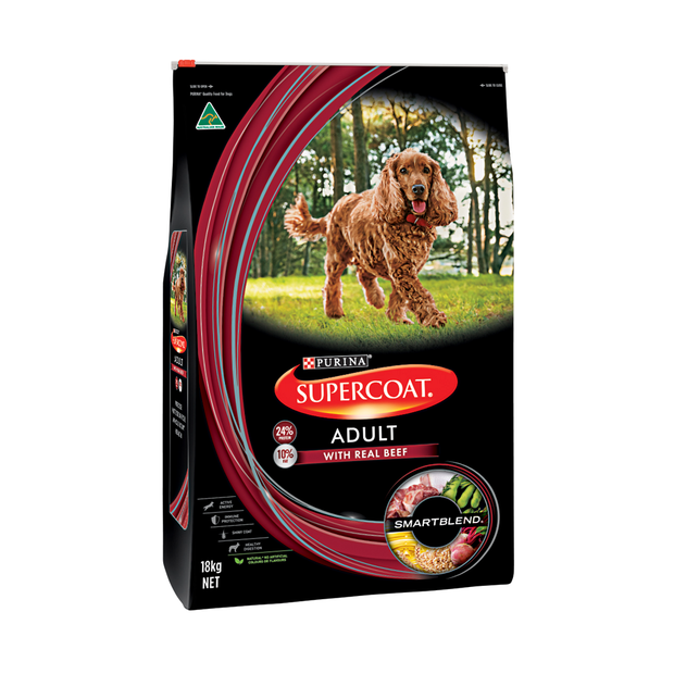 Supercoat Dog Adult Beef 18kg-Dog Food-Southern Sport Horses