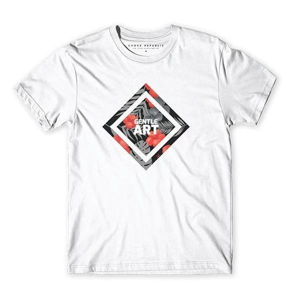 Gentle Art Diamond Tee - White