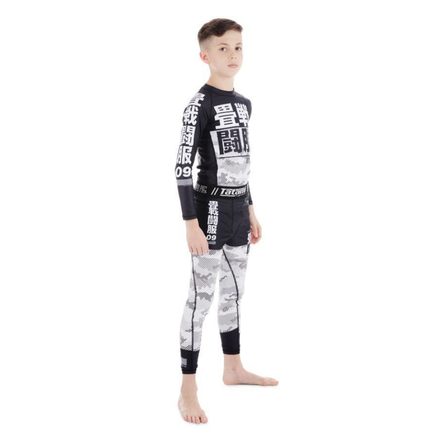Kids Essential Camo Spats - White