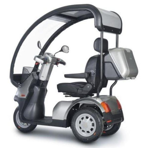 AFIKIM Afiscooter S 3 Wheel Scooter Left Side View With Canopy
