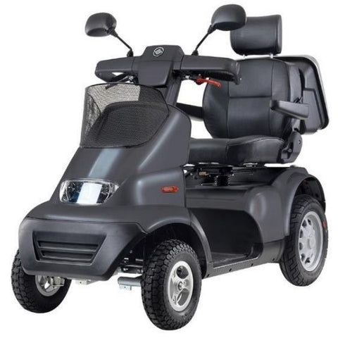 AFIKIM Afiscooter S 4-Wheel Scooter Dark Grey Front View