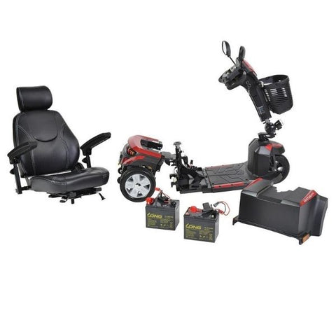 Drive Medical Ventura DLX 3 Wheel Scooter Disassemble View