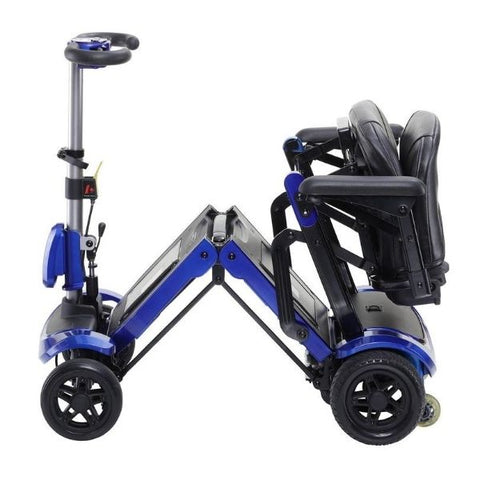 Drive Medical ZooMe-Flex 4 Wheel Scooter Folding View
