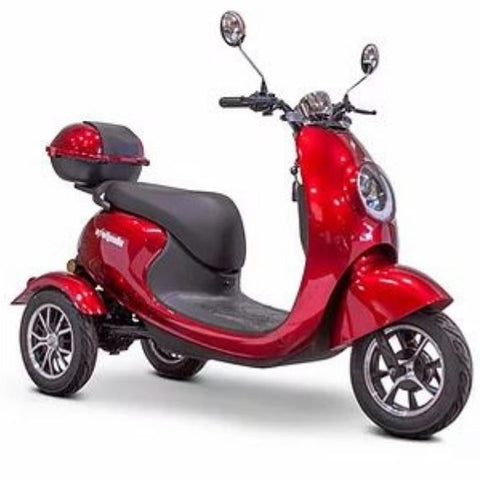 E-Wheels Bugeye 3-Wheel Mobility Scooter Red View