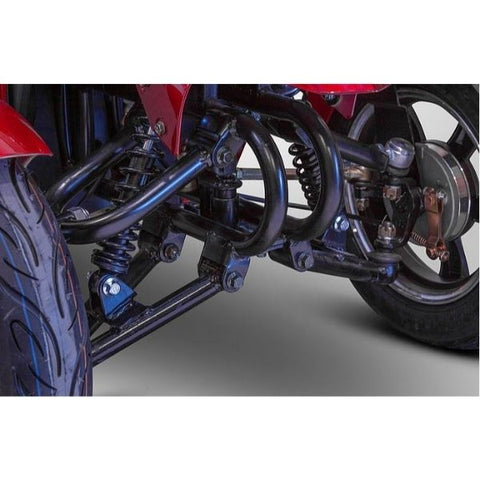 E-Wheels EW-14 Four Wheel Scooter Front Suspension View