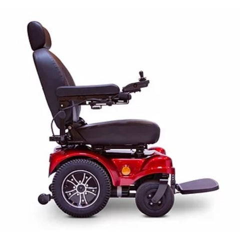 E-Wheels EW-M51 Medical Power Chair Red Right Side View
