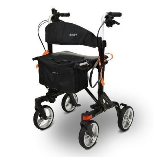 EV Rider Move X Easy Compact 4 Wheel Rollator Front View