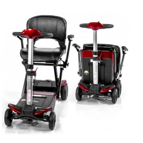 Enhance Mobility Transformer 4-Wheel Scooter S3021 Front Unfolding and Folding View