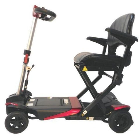 Enhance Mobility Transformer 4-Wheel Scooter S3021 Red Side View