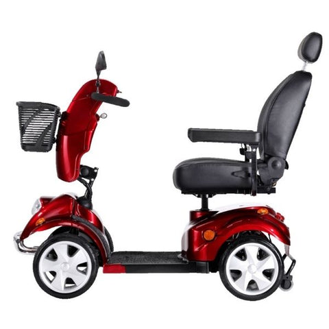 FreeRider USA FR 510F II 4 Wheel Bariatric Scooter Side View
