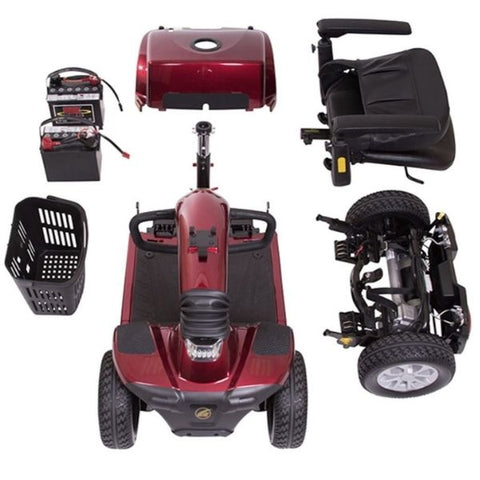 Golden Technologies Companion 4-Wheel Bariatric Scooter GC440D Disassembled View