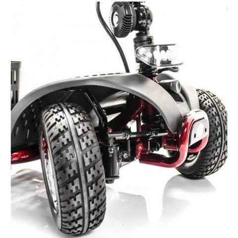 Golden Technologies LiteRider 4 Wheel Mobility Scooter GL141D Front Wheel View