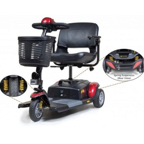 Golden Technologies Buzzaround XLS  GB117S Front View with Spring Suspension View