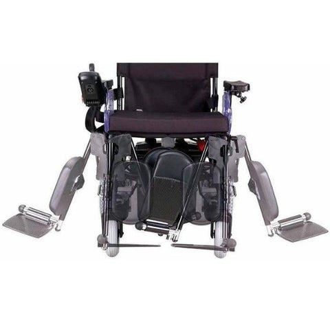 Merits Health P182 Travel-Ease Folding Bariatric Power Chair Legrests View