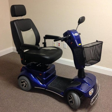 Merits Health S141 Pioneer 4 Wheel Mobility Scooter Blue Side View