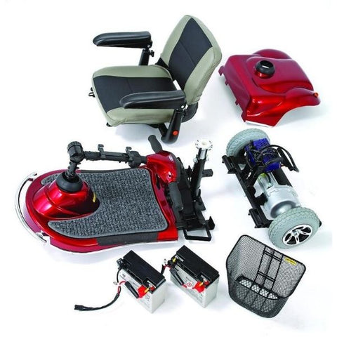 Merits Health S235 Pioneer 3 Wheel Mobility Scooter Disassembled